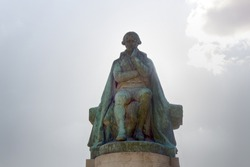 A Monument To Lamarck - Creator of the evolutionary theory of Lamarckism. Paris