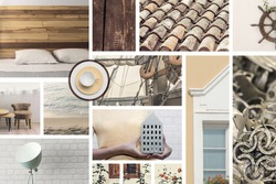 A mood board expresses a sense of coziness, comfort and warmth. This is for those who love pastel colors and nautical themes, who also want to decorate their home.