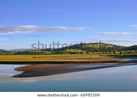 A morning view of the shoreline at Arnside, Cumbria, England