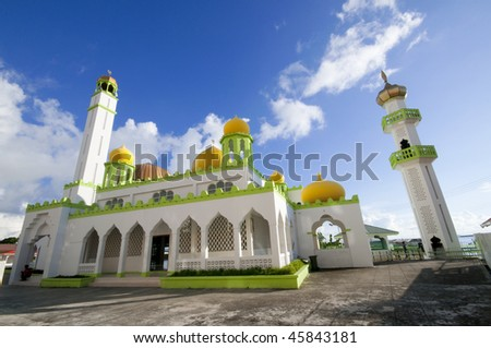 A mosque in an Asian country during day time