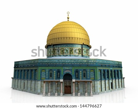 a mosque on a white background