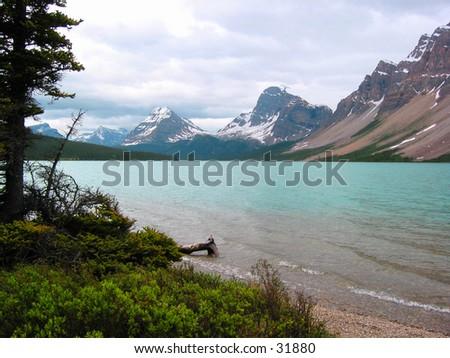 A mountain lake in Canada.