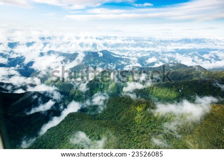 A mountain range in Papua, Indonesia