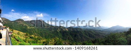 A mountain range or hill range is a series of mountains or hills ranged in a line and connected by high ground #1409168261