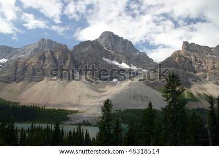 A mountain view in Banff National Park