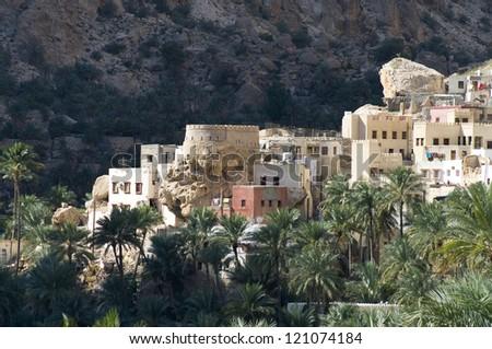 A mountain village in sultanate Oman