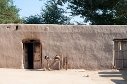 A mud house in the Village of the Punjab