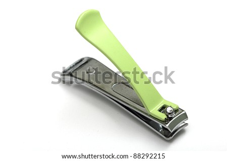 a nail clippers  on white background