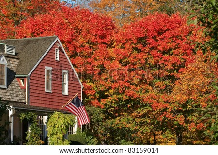 A National Historic Site in Wilton, CT, this is an autumn view of the Visitor?s Center at Weir Farm. The site is popular with artists and also has beautiful hiking trails.