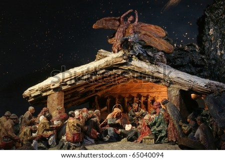 A nativity scene, creche, or crib, is a depiction of the birth of Jesus