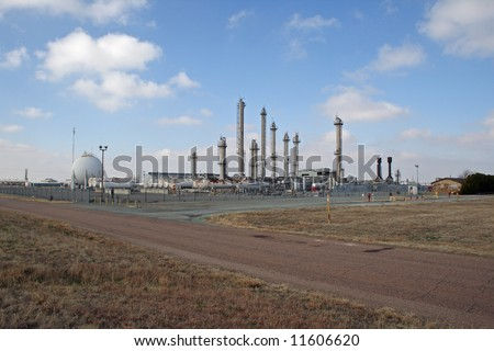 A natural gas transfer and storage facility on the plains of Oklahoma