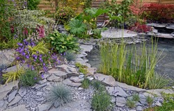 A natural rock and water garden