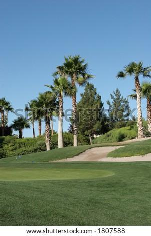 A neighborhood golf course in Las Vegas