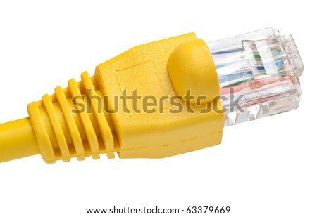 A network RJ45 connector isolated on a white background with clipping path