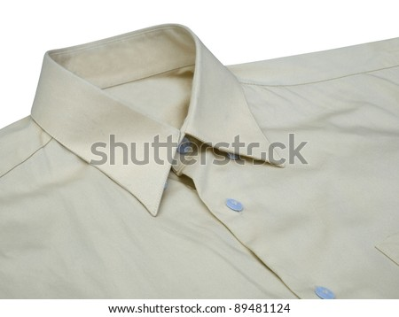 A new blue man's shirt isolated over a white background