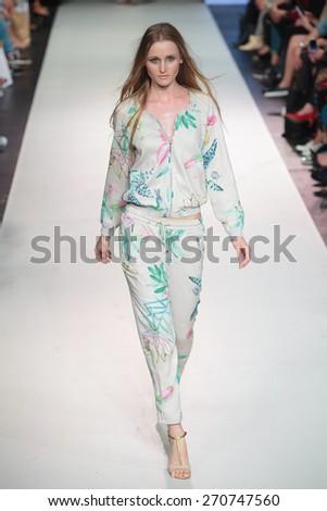 A new collection of designs by polish fashion designer Eva Minge was presented at XII FashionPhliosophy Fashion Week Poland  on April 17, 2015 in Lodz, Poland.