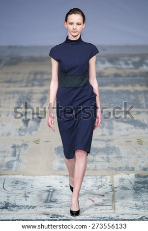 A new collection of designs by ukrainian fashion designer Lesia Semi was presented at XII FashionPhliosophy Fashion Week Poland on April 18, 2015 in Lodz, Poland.