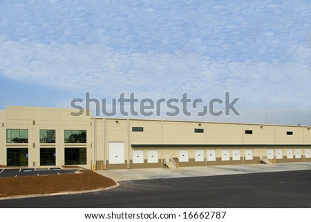 A new commercial warehouse for lease or sale
