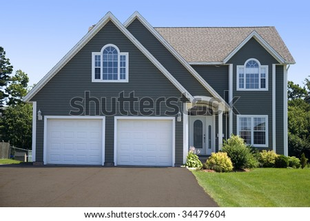 A new family home in a subdivision.