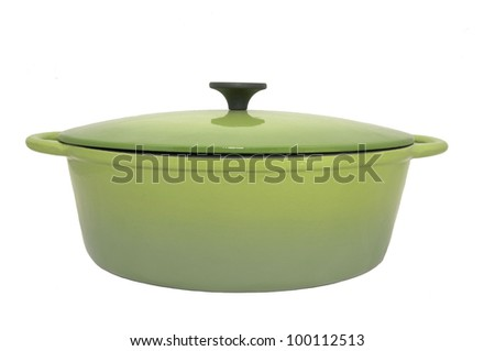 A new pan large saucepan on a white background