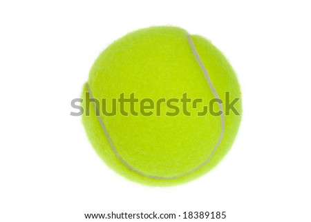 A new tennis ball isolated against a white background