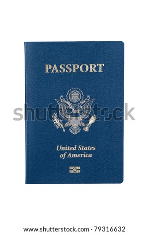 A new USA passport isolated on white