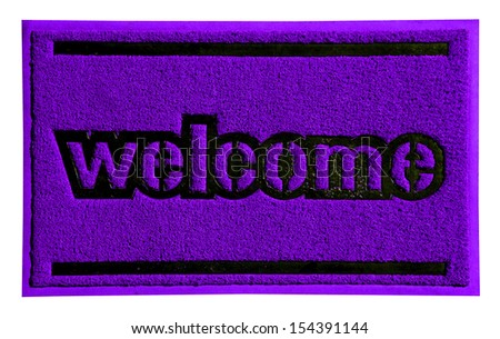 A new welcome doormat