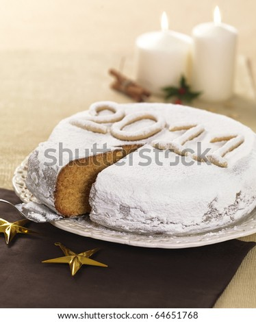 a new year cake