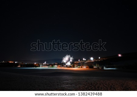 A New Years eve firework