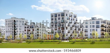 A newly built residential complex in munich