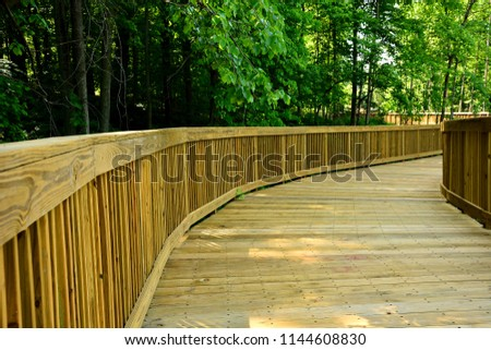 a newly constructed boardwalk...
