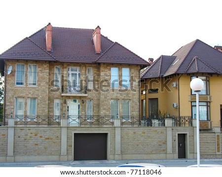 a newly constructed house, modern European home - stock photo