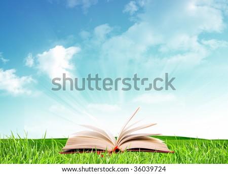 A nice book under a blue sky