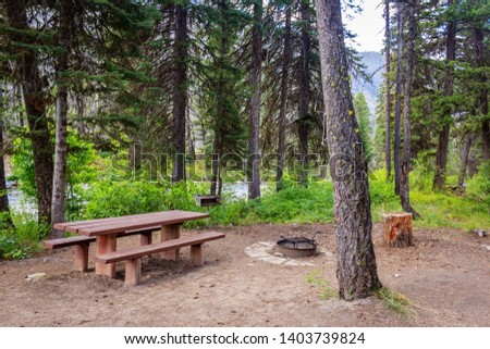 A nice creek side campsite in the Payette National Forest #1403739824
