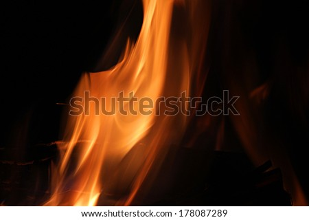 A nice fire in a fire place