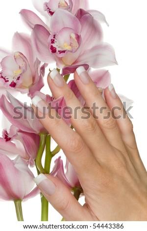 A nice hand and a blossom