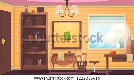 A nice little workshop flat design background #1222335616
