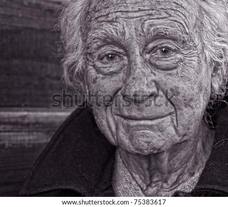 A nice Portrait Of a senior Man outdoors