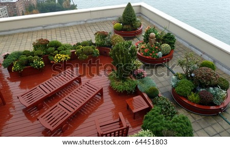 A nice rooftop garden in Manhattan