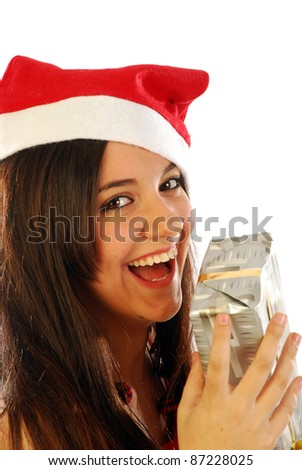 A nice Santa Claus brings us many gifts and good wishes