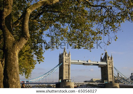 a nice view of bridge in london
