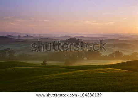 a nice view of landscape in tuscany