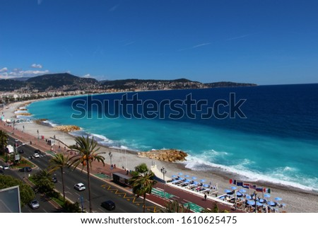 A nice view of Nice in France