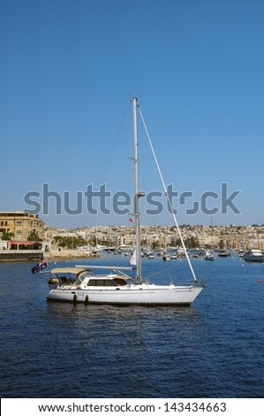 a nice yacht resting in a sea harbour