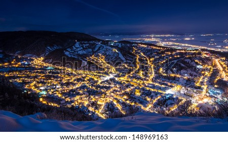 A night exposure over old part of Brasov called Schei