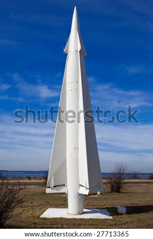 A Nike-Hercules missile on display at Fort Hancock, New Jersey
