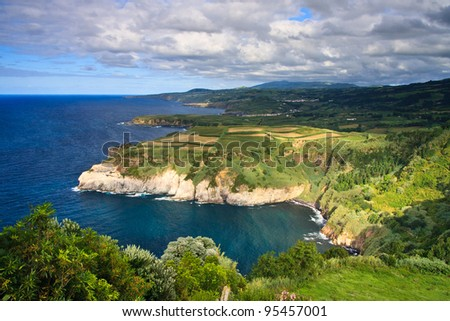 A northern coast line of the island Sao Miguel, Azores