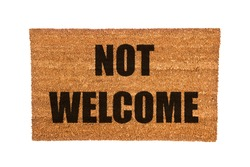 A not welcome doormat isolated on a white background