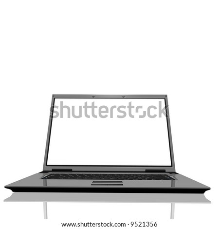 A notebook with a white screen
