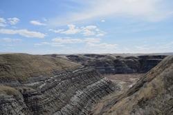 A obscure hillside view in Alberta, Canada
